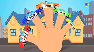 Police Car Finger Family | Finger Family Rhyme | Kids Song
