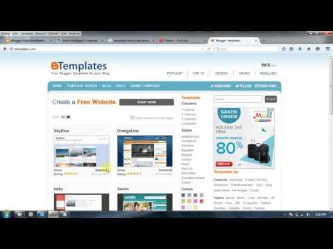Cara Download dan Memasang Template blog