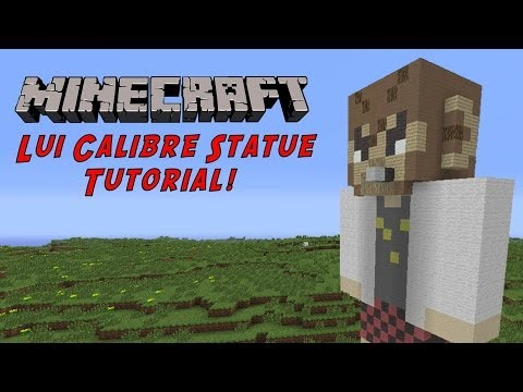 Minecraft Tutorial: Lui Calibre (GTA Character) Statue