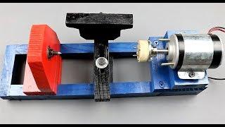 DIY 12V Lathe Machine - Best Mini Lathe on YouTube