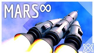 MARS ∞ | 100% reusable mission to Mars and back! | KSP/RSS/RO