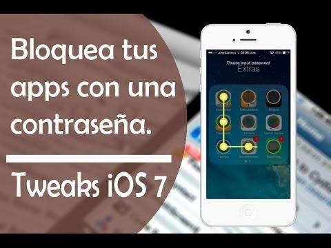 Protege cualquier app con contraseña | Tweaks para iOS 7 | LockYour App
