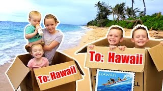 WE MAILED OURSELVES OVERSEAS TO HAWAII AND IT WORKED! (skit) Kids Fun TV Family Vacation