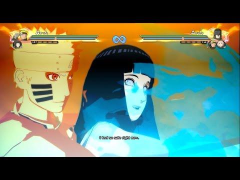 Naruto Storm 4: The Last Naruto All Moveset,Awakening x Hinata Ultimate Jutsu (The Last: Movie DLC)