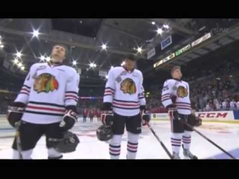 Memorial Cup 2013 - Alexis Normand butchering the US National Anthem