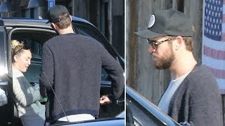 Miley Cyrus And Liam Hemsworth Grab Lunch On The Malibu Coast