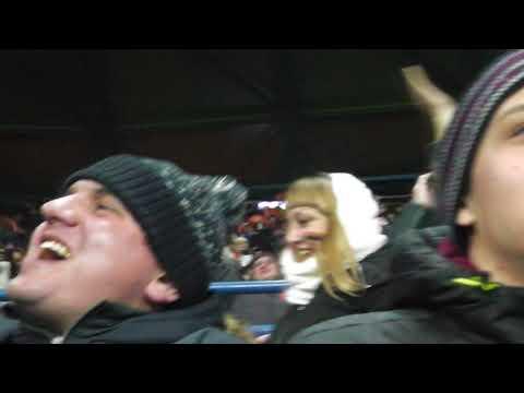 радость от первого гола Шахтёра в ворота Манчестер Сити 6.12.2017
