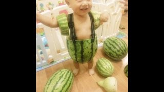 Babies Wearing Watermelons as Overalls are China's Latest Thing