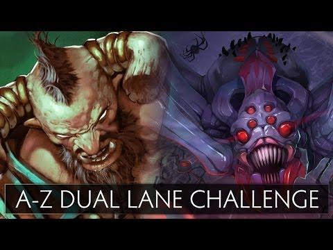 Dota 2 A-Z Dual Lane Challenge - Broodmother and Centaur