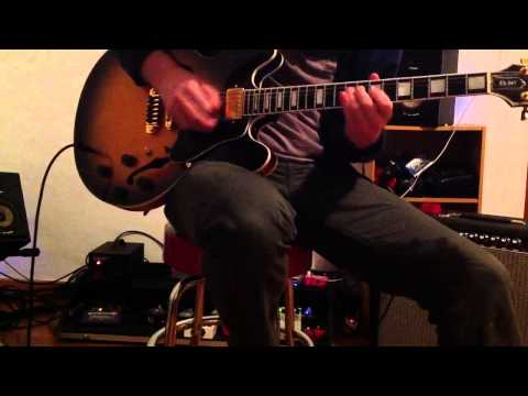 Gibson ES 347 with RAT 80's on Fender Vibroverb Cesar Diaz