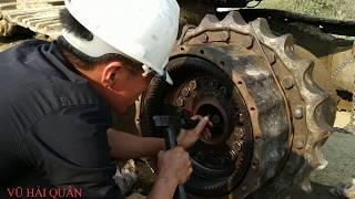 Xử Lý Sự Cố Chảy Dầu Bánh Sao Máy Xúc KOMATSU PC 300-3. Fix the Excavator Komatsu.