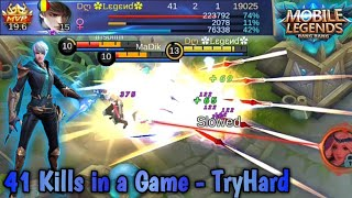 Gusion🗡️41 Kills Build 👌Dagger-Kills-Win | Mobile Legends: Bang Bang