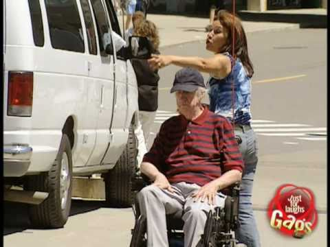 Epic Old Man - Runaway Disabled Man Gag