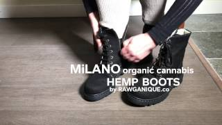"Women's Handmade Organic Cannabis Hemp Boots ""Milano"" by Rawganique.co"