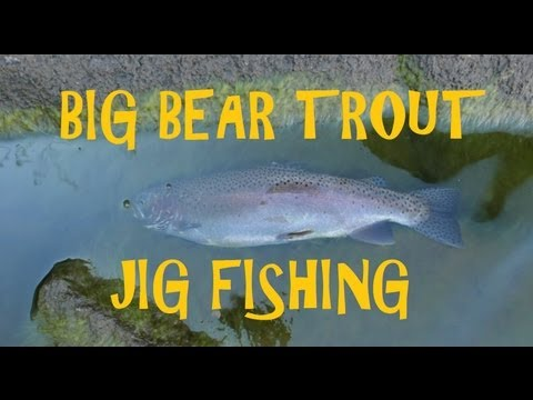 How to: Jig Fishing for Rainbow Trout on Big Bear Lake with Awesome Underwater GOPRO HERO Footage