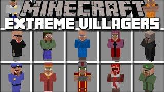 Minecraft EXTREME VILLAGER MOD / SURVIVE THIS WEIRD VILLAGE TO GET A PRIZE !! Minecraft