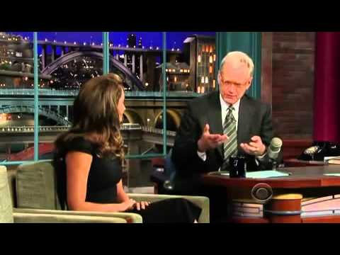 Penelope Cruz on David Letterman