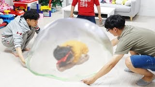 초거대 슬라임 만들기 놀이 GIANT SLIME BUBBLE!!