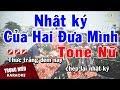 Karaoke Nhật Ký Hai Đứa Mình Tone Nữ Nhạc Sống | Trọng Hiếu thumbnail
