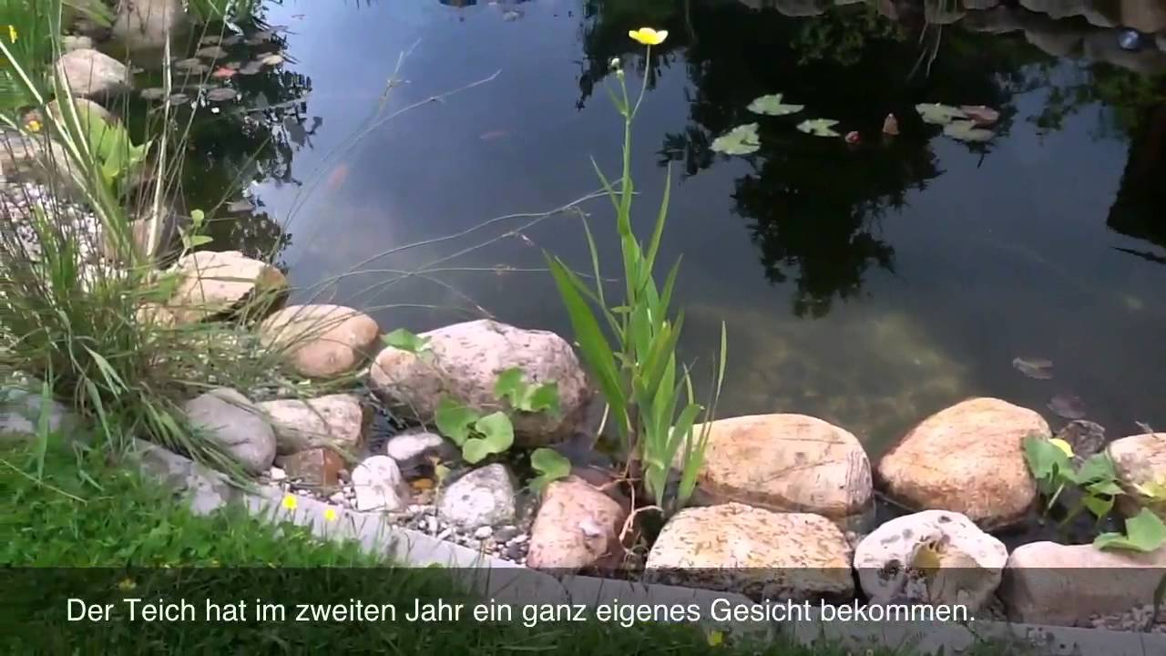 gartenteich neuer bachlauf youtube. Black Bedroom Furniture Sets. Home Design Ideas