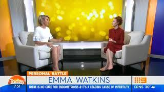 Emma Watkins On The Today Show - 13th April, 2018 - Endometriosis