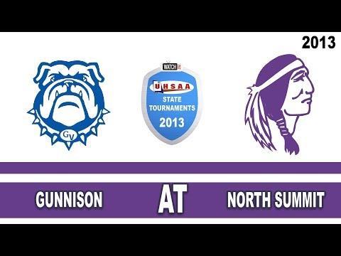 2013 2A Football Tournament: Gunnison High School @ North Summit High School Utah 11/2/13