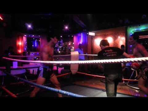 Kickboxing at Pink Panther A GoGo Bangkok Thailand