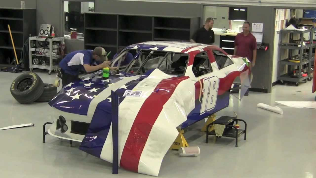 Incredible Timelapse Wrap Of American Flag Nascar Car For