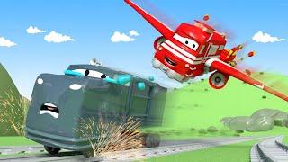 Xe lửa Troy - Xe lửa máy bay - Thành phố xe 🚉 những bộ phim hoạt hình về xe tải cho thiếu nhi
