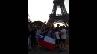 Celebrando copa america 2015 en Paris