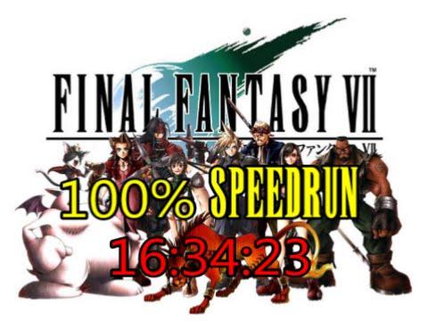 Final Fantasy VII : 100 Speedrun in 16:34:23