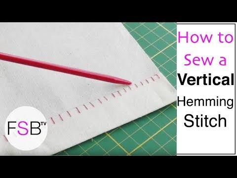 Hemming Stitch Definition a Vertical Hemming Stitch