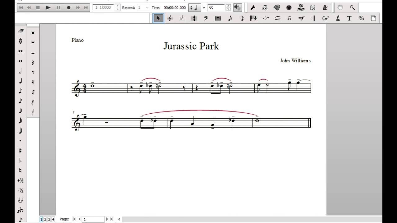 how to play jurassic world on piano