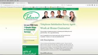 Work from home taking surveys over the phone- for Telcare and Westat