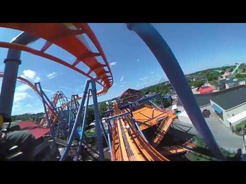 VR 360 Talon Roller Coaster 360 Degree POV Dorney Park