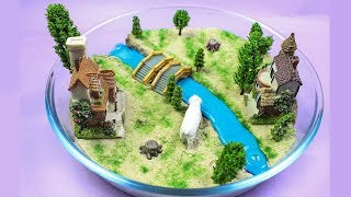 DIY Miniature beautiful house scene color slime house scenery 2 - Kinetic Sand Miniature 2