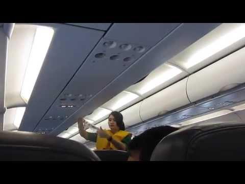 funny flight attendant citilink PK-GLY