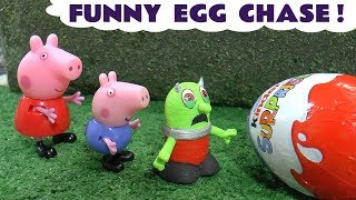 Peppa Pig Full Episodes Surprise Egg Chase with How To Train Your Dragon in this Story for Kids