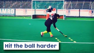 How to hit the ball harder on goal | Hockey Heroes TV