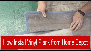 How install vinyl plank from Home Depot HD (english edition)
