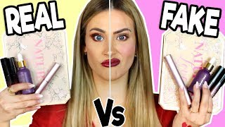 PROBANDO REAL Vs FAKE MAKEUP | Maquillaje Pirata ¿Termina Mal?