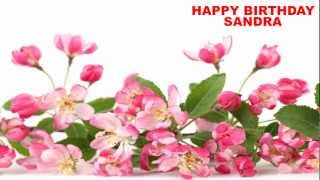 Sandra - english - flowers - Happy Birthday