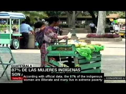 Guatemalan indigenous living in poverty