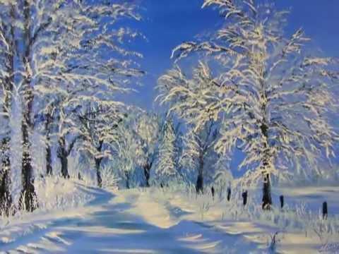 Mes paysages de neige olivier lemennicier artiste peintre sur toile peinture acrylique - Paysage peinture facile ...