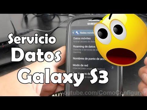 Activar o desactivar el servicio de datos del Samsung Galaxy S3 español