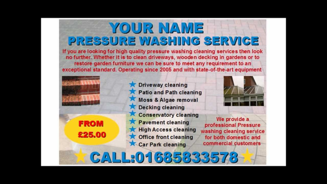 Pressure Washing Services Flyer Template Youtube