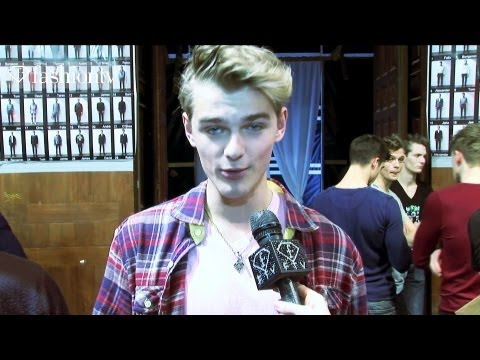 Sexy Male Models Backstage At Christian Lacroix, Paris Men's Fashion Week Fall 2012 | Fashiontv Ftv video
