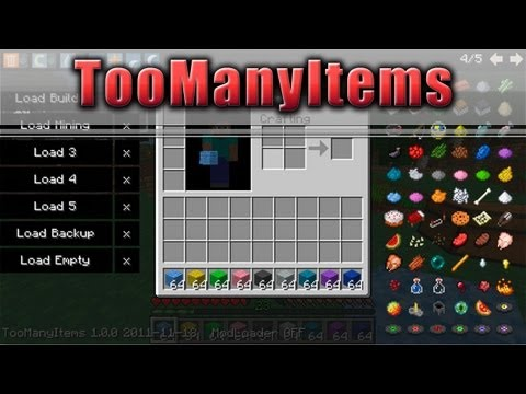 ★ Minecraft Mods 1.6.2 CHEATEN IN MINECRAFT TooManyItems 1.6.4 1.5.x 1.4.7 German