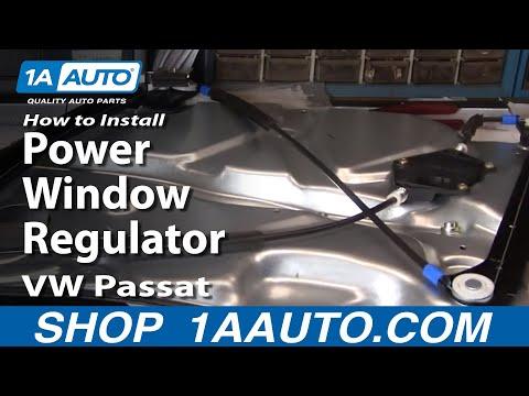 How to install replace power window regulator and motor for 2001 volkswagen passat window regulator