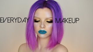 Everyday Makeup Look | Neutral eyes & Turquoise Lips | Colour Creep
